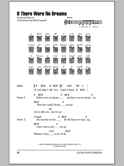 If There Were No Dreams (Guitar Chords/Lyrics)
