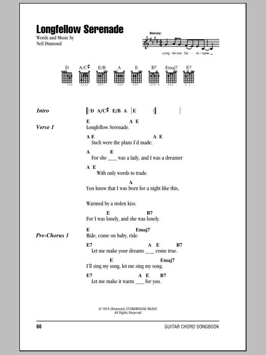 Longfellow Serenade (Guitar Chords/Lyrics)