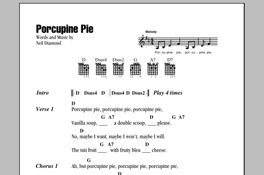 Porcupine Pie Sheet Music