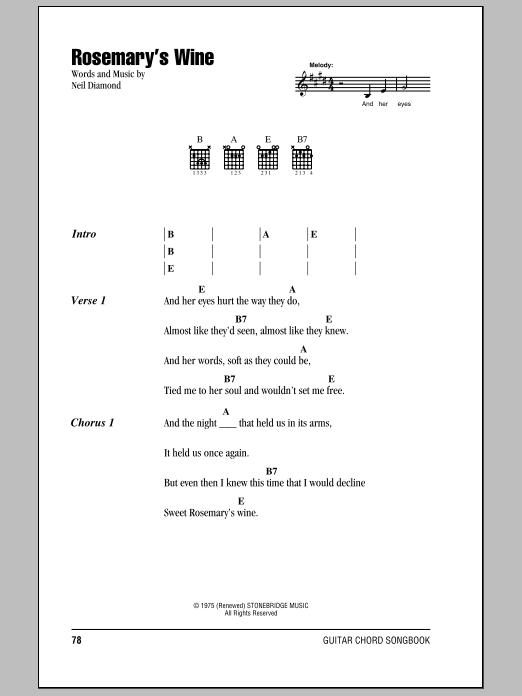 Rosemary's Wine Sheet Music
