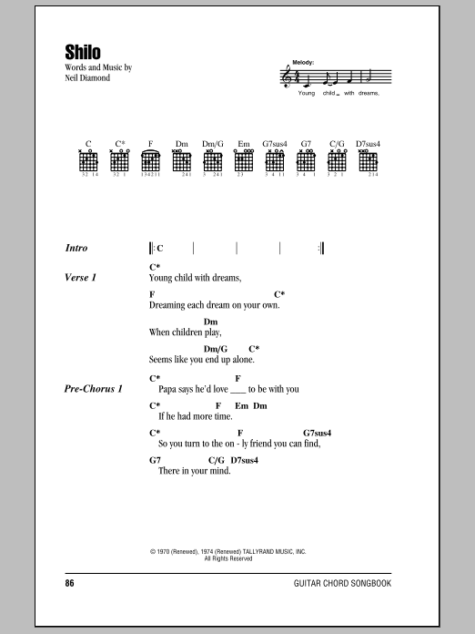 Shilo Sheet Music