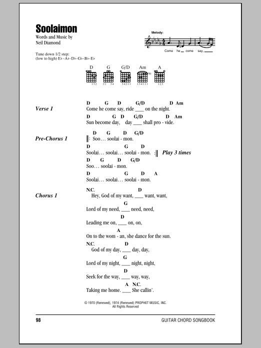 Soolaimon Sheet Music