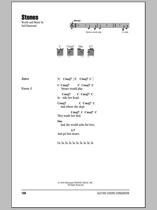 Stones Sheet Music