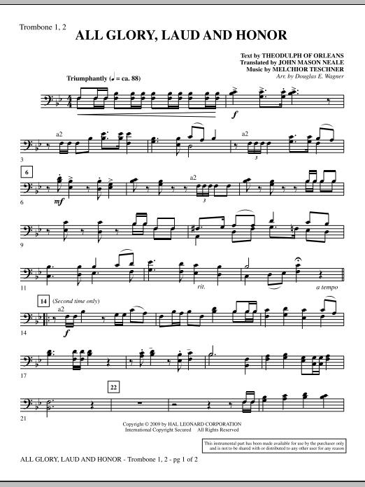 All Glory, Laud And Honor - Trombone 1 & 2 (Choir Instrumental Pak)