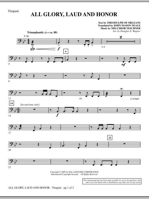 All Glory, Laud And Honor - Timpani (Choir Instrumental Pak)