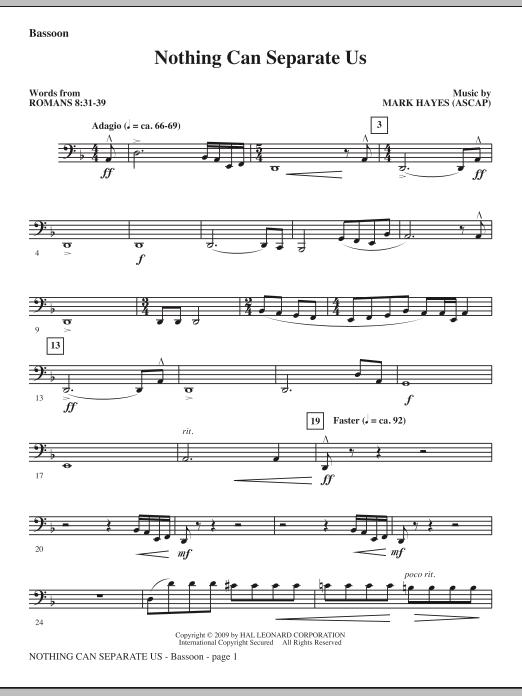 Nothing Can Separate Us - Bassoon (Choir Instrumental Pak)