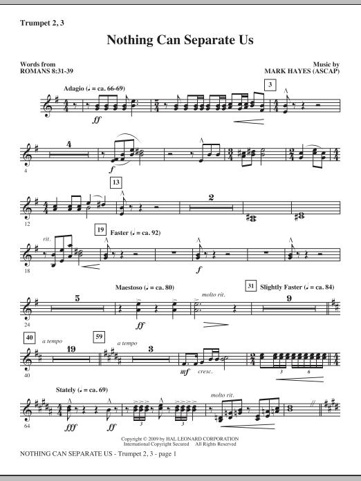 Nothing Can Separate Us - Trumpet 2 & 3 (Choir Instrumental Pak)