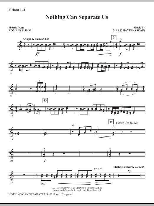 Nothing Can Separate Us - F Horn 1 & 2 (Choir Instrumental Pak)