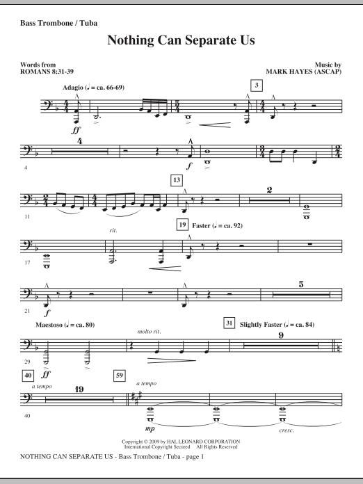 Nothing Can Separate Us - Bass Trombone/Tuba (Choir Instrumental Pak)