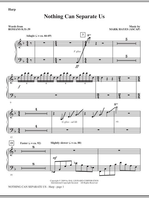 Nothing Can Separate Us - Harp (Choir Instrumental Pak)