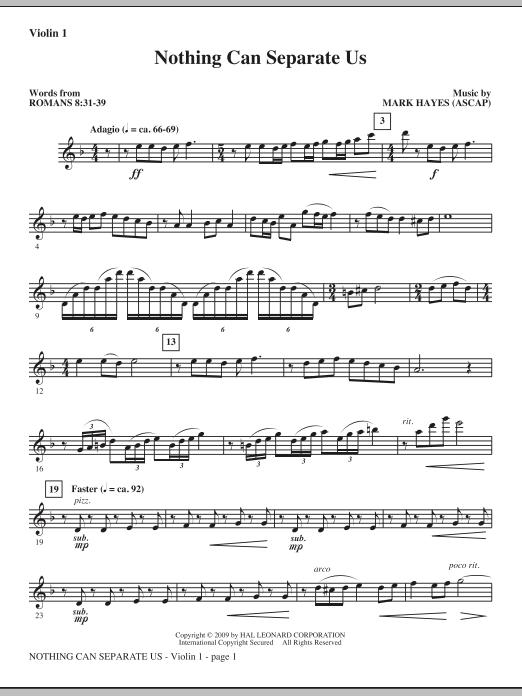 Nothing Can Separate Us - Violin 1 (Choir Instrumental Pak)