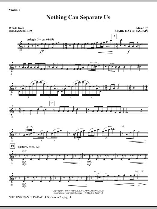 Nothing Can Separate Us - Violin 2 (Choir Instrumental Pak)