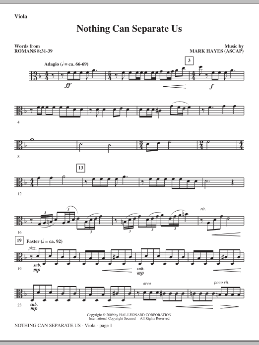 Nothing Can Separate Us - Viola (Choir Instrumental Pak)