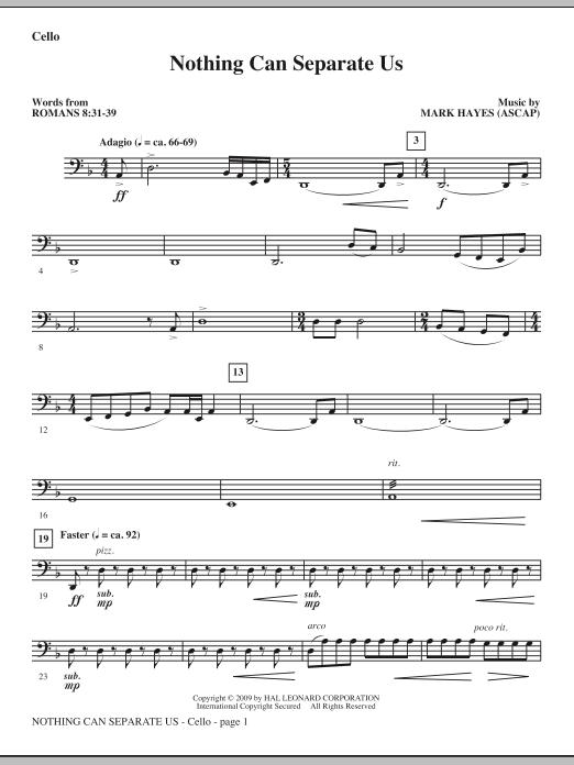 Nothing Can Separate Us - Cello (Choir Instrumental Pak)