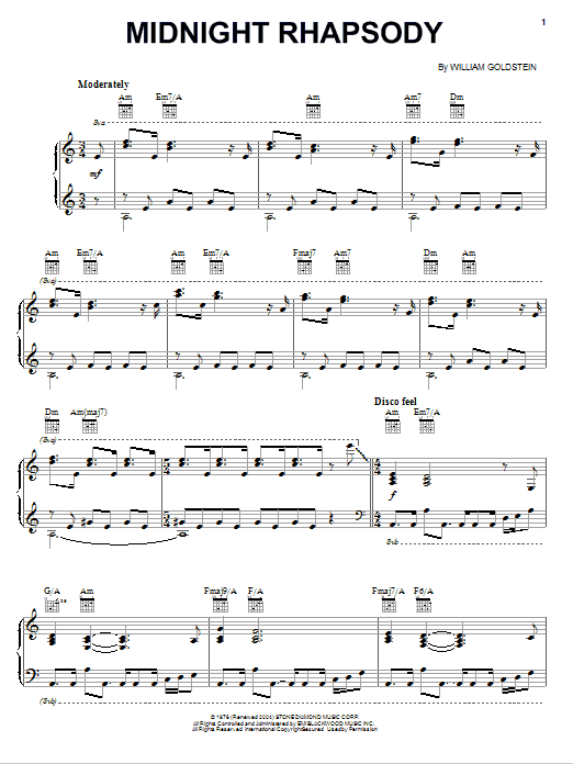 Midnight Rhapsody Sheet Music