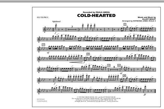 Cold-Hearted (Featured in Drumline Live) - Flute/Piccolo (Marching Band)