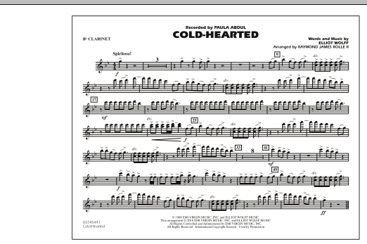 Cold-Hearted (Featured in Drumline Live) - Bb Clarinet (Marching Band)