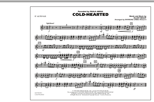 Cold-Hearted (Featured in Drumline Live) - Eb Alto Sax (Marching Band)