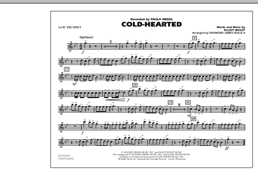 Cold-Hearted (Featured in Drumline Live) - 1st Bb Trumpet (Marching Band)