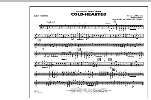 Cold-Hearted (Featured in Drumline Live) - 2nd Bb Trumpet (Marching Band)