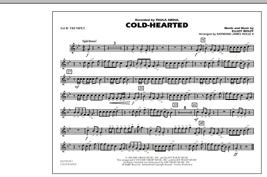 Cold-Hearted (Featured in Drumline Live) - 3rd Bb Trumpet (Marching Band)
