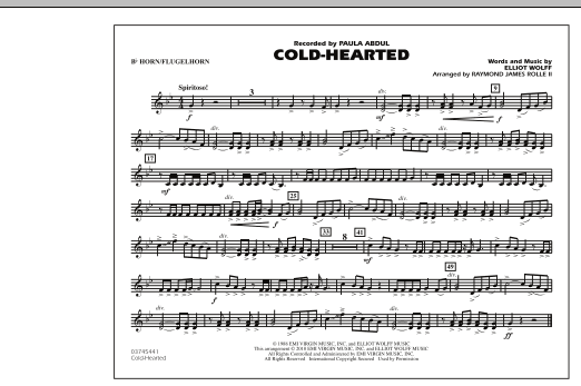 Cold-Hearted (Featured in Drumline Live) - Bb Horn/Flugelhorn (Marching Band)