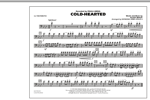 Cold-Hearted (Featured in Drumline Live) - 1st Trombone (Marching Band)