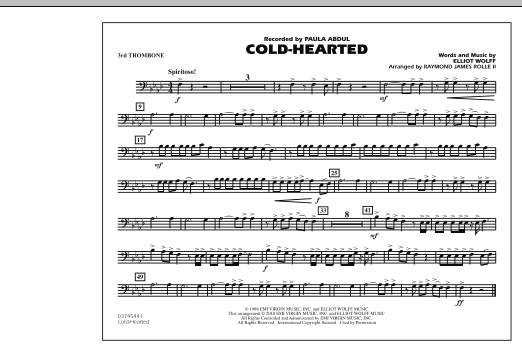 Cold-Hearted (Featured in Drumline Live) - 3rd Trombone (Marching Band)