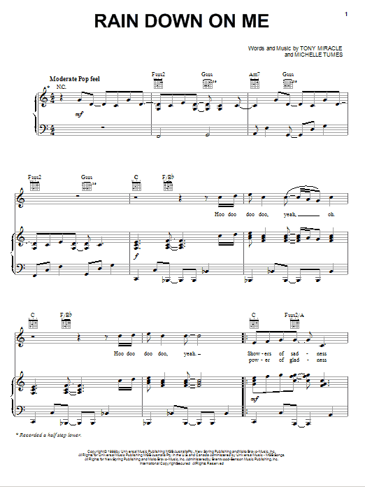 Rain Down On Me Sheet Music