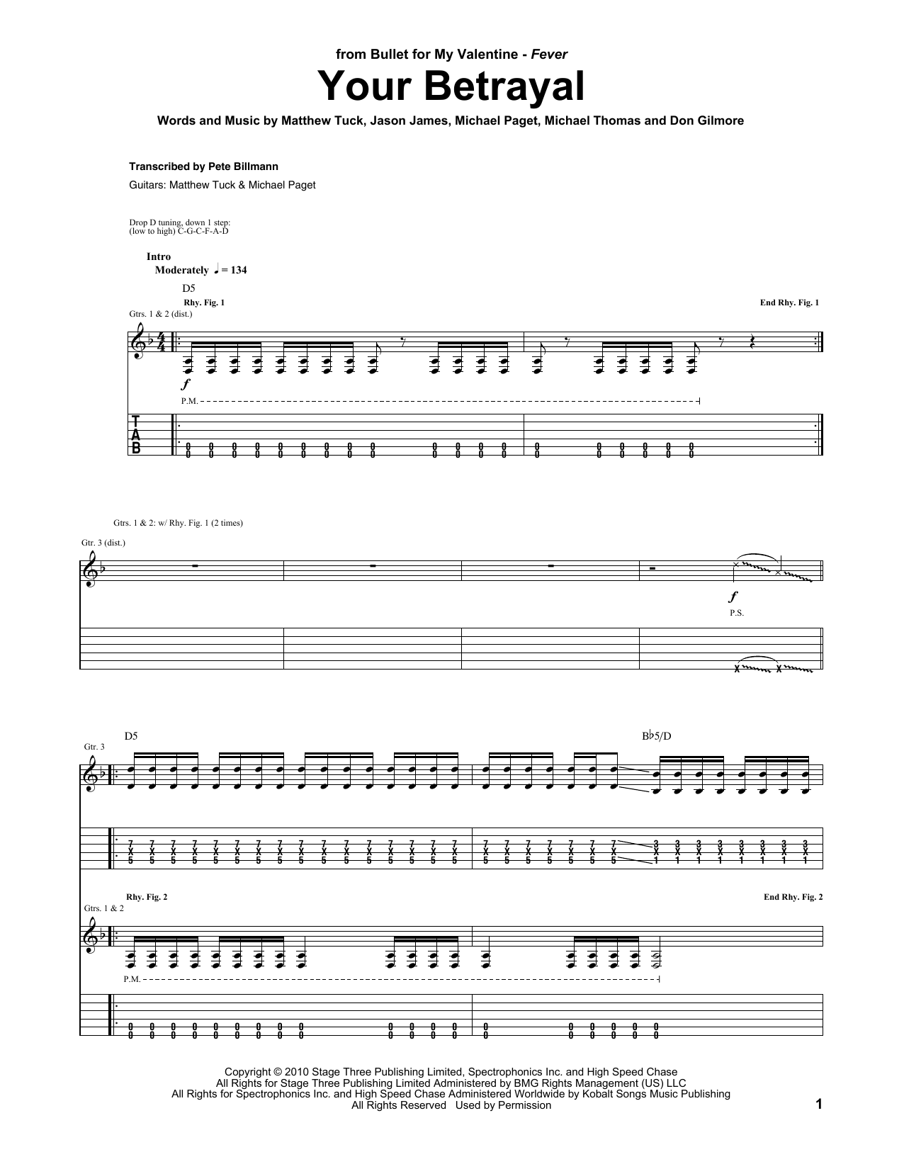 Your Betrayal Sheet Music
