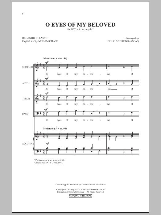 O Eyes Of My Beloved (SATB Choir)