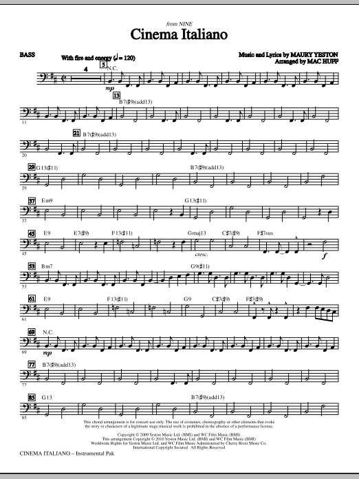 Cinema Italiano - Bass (Choir Instrumental Pak)