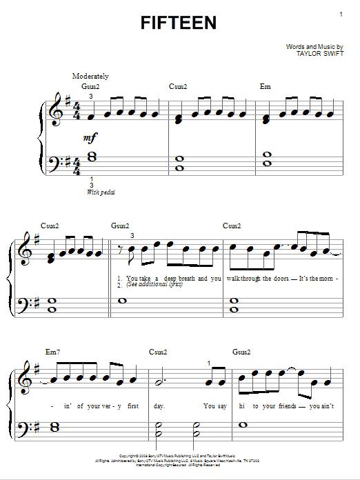 Fifteen (Big Note Piano)