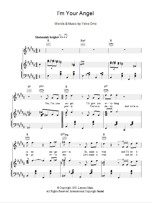 I'm Your Angel Sheet Music