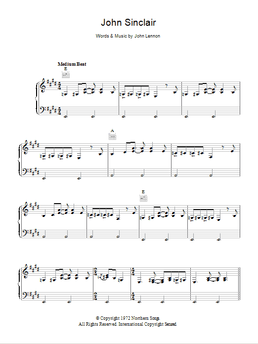 John Sinclair Sheet Music