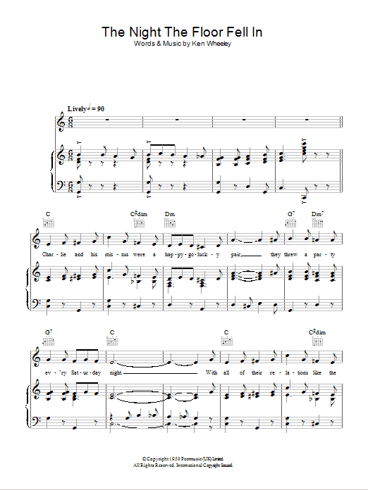 The Night The Floor Fell In Sheet Music
