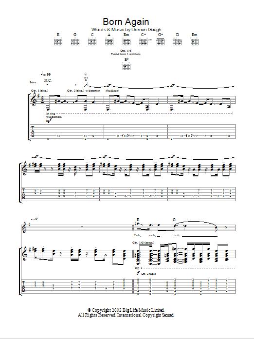 Born Again Sheet Music