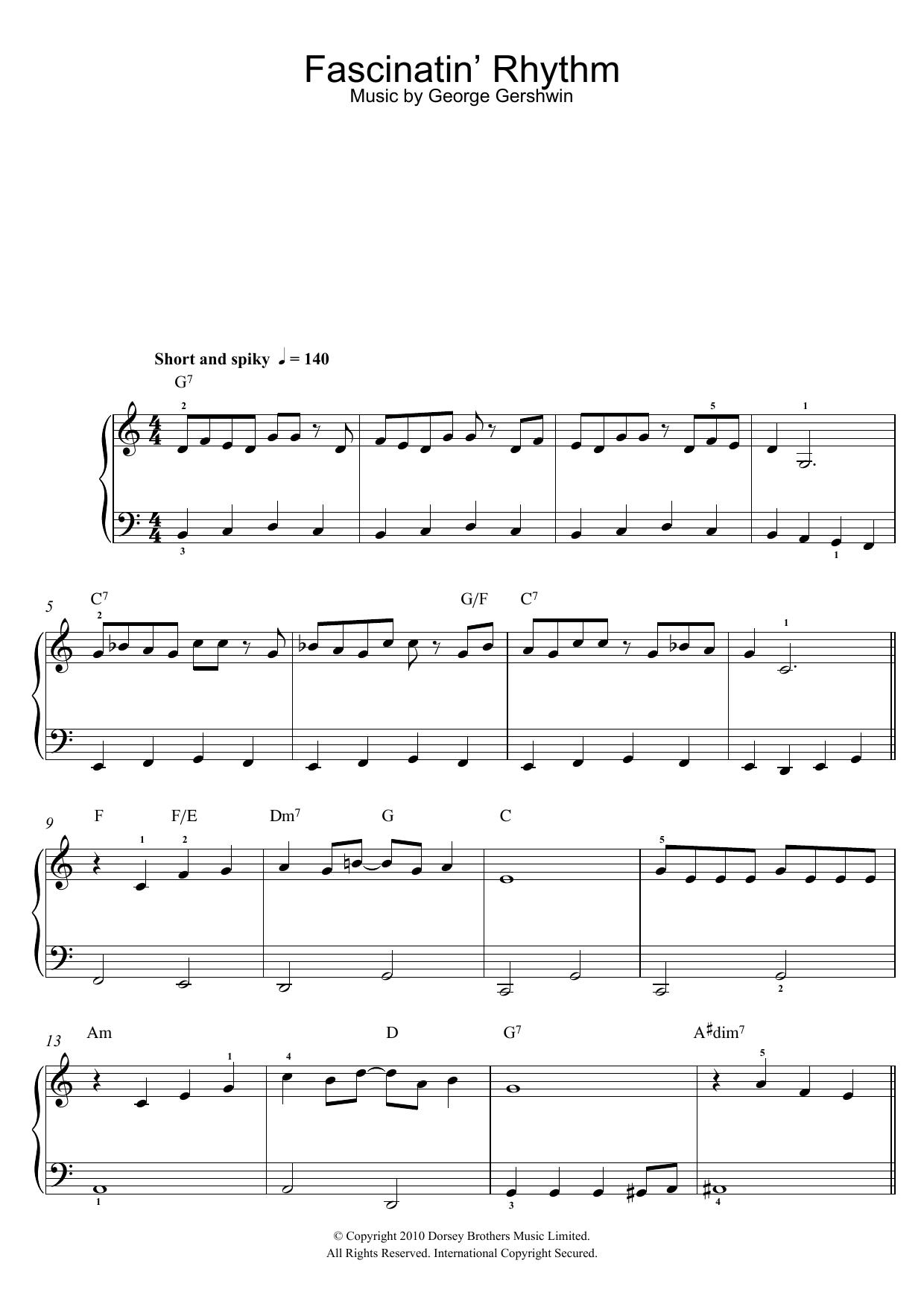 fascinating rhythm lead sheet pdf