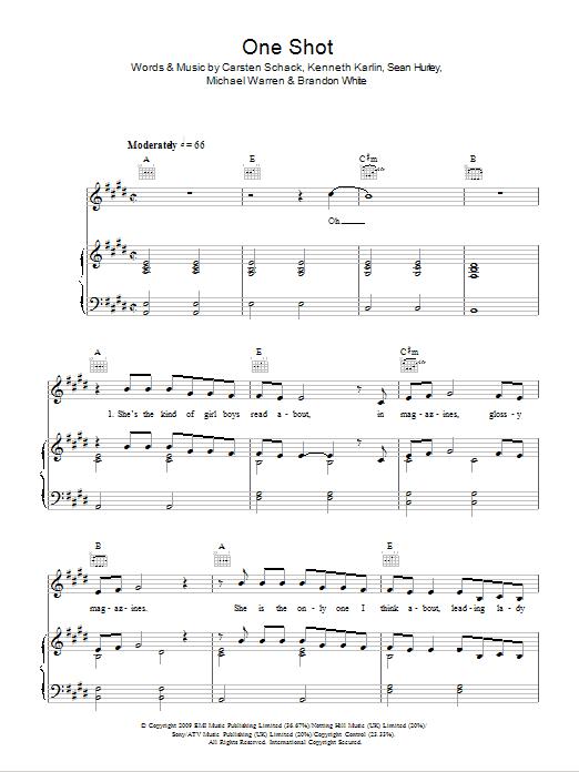 One Shot Sheet Music