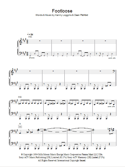 Footloose Sheet Music