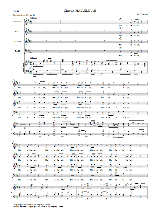 Hallelujah (from Messiah - Watkins Shaw Edition) Sheet Music