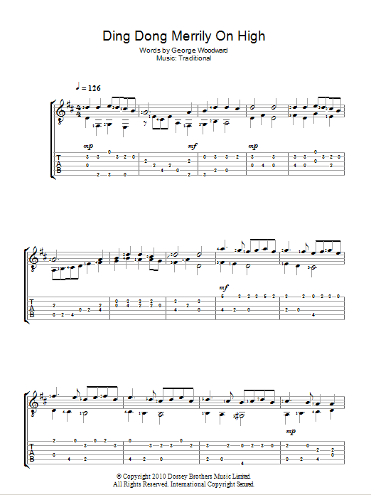 Ding Dong! Merrily On High Sheet Music