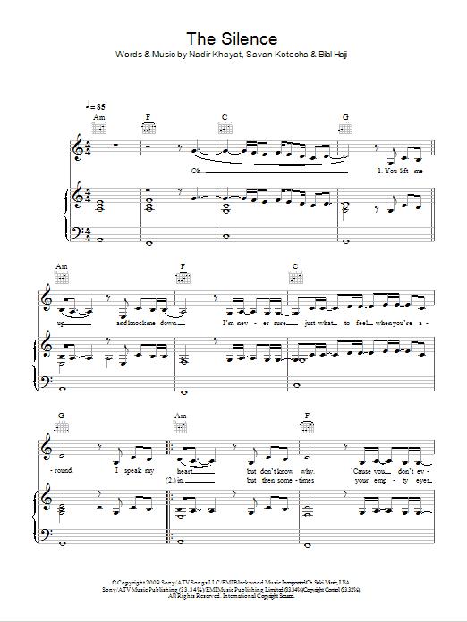 The Silence Sheet Music