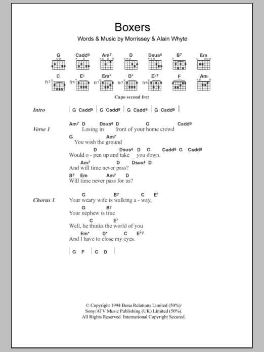 Boxers Sheet Music