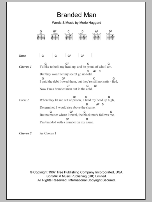 Branded Man Sheet Music