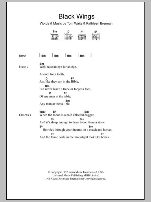 Black Wings Sheet Music