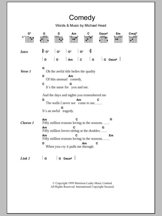 Comedy Shack Lyrics Chords