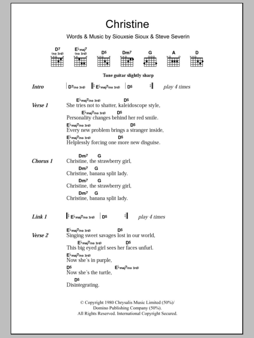 Christine Sheet Music