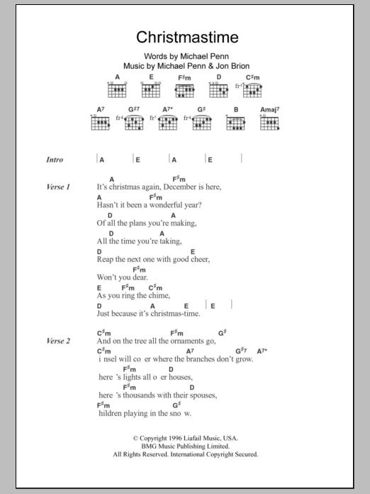 Christmastime Sheet Music
