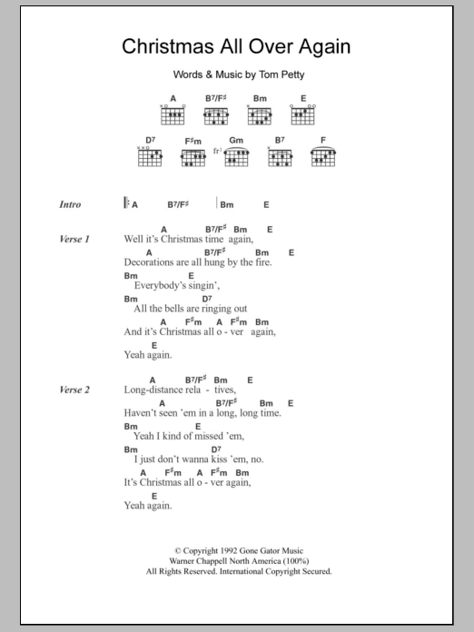 the most accurate tab - All I Want For Christmas Guitar Chords